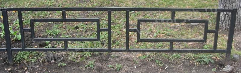 Ограда из профтрубы
